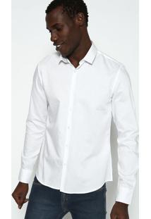 Camisa Slim Lisa Com Botãµes - Brancacalvin Klein