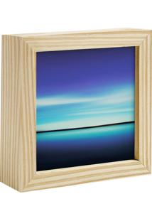 Quadro Decorativo Decohouse Moldura Art Azul