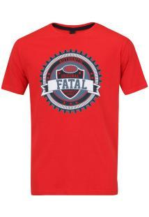 Camiseta Fatal Estampada 20337 - Masculina - Vermelho