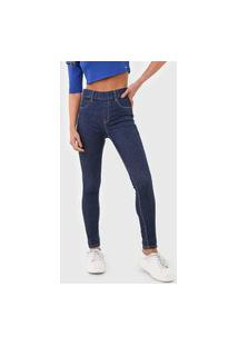 Calça Jeans Sawary Jegging Pespontos Azul