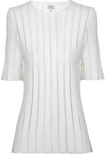 Blusa Le Lis Blanc Maria Tricot Off White Feminina (Dust, G)
