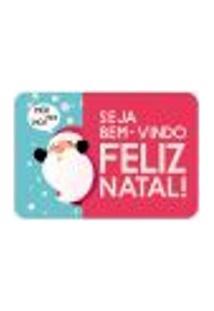 Tapete Decorativo Mdecore Natal Papai Noel Colorido 40X60Cm