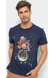 Camiseta Ellus 2Nd Floor Estampa Astronauta Floral Masculina - Masculino