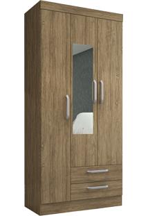 Guarda Roupa Solteiro Decibal Rp2320 Âmbar 3 Portas Com Espelho Wood