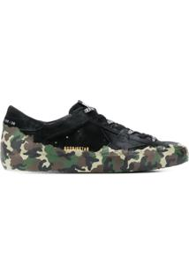 Golden Goose Camouflage Print Low-Top Sneakers - Verde