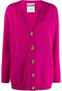Moschino Dollar Buttons Cardigan - Rosa