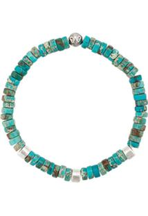 Nialaya Jewelry Pulseira Elástica De Contas - Azul