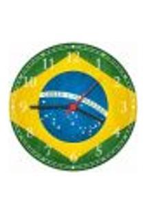 Relógio De Parede Bandeira Do Brasil Países Decorações