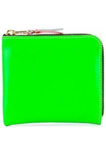 Comme Des Garçons Wallet Carteira Super Fluo Com Zíper - Verde
