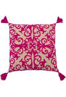 Capa De Almofada Paris Cor: Rosa Pink - Tamanho: Único