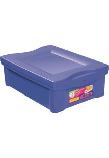 Caixa Organizadora Color- Azul Escuro- 14,4X30,5X42,Ordene