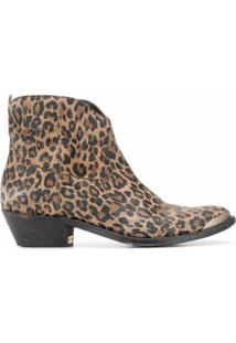 Golden Goose Ankle Boot Young Com Estampa De Leopardo - Marrom