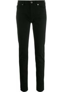 Love Moschino Calça Jeans Skinny Com Logo - Preto