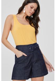 Shorts Jeans Com Cinto