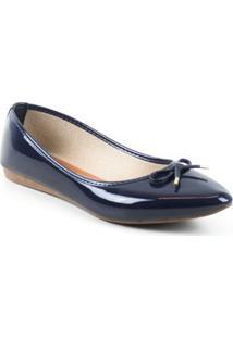 Sapatilha Tag Shoes Verniz Feminino - Feminino-Marinho