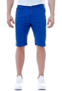 Bermuda Sarja Masculina American 28 - Azul
