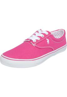 Tênis Polo London Club Bordado Rosa