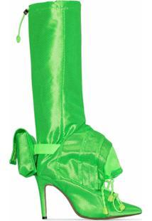 Christian Stone Bota Geisha - Verde