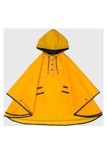 Capa De Chuva Infantil Kidsplash! Com Capuz Amarelo