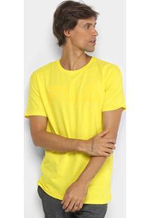 Camiseta Fila Estampada Masculina - Masculino-Amarelo