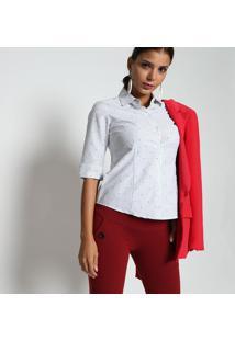 Camisa Listrada- Branca & Preta- Intensintens