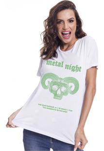 Camiseta Feminina Estonada My Tshirt Metal Night
