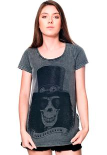 Camiseta Estonada Skull Slash Useliverpool Preta