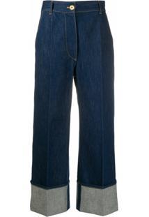Patou Calça Jeans Cintura Alta - Azul