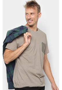 Camiseta Botonê Redley Com Bolso Bicolor Masculina - Masculino