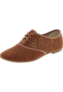 Sapato Rioutlet Feminino Oxford Caramelo