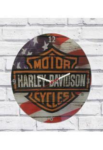 Relógio Parede Sala Decorativo Moto Pulso 30X30X2Cm