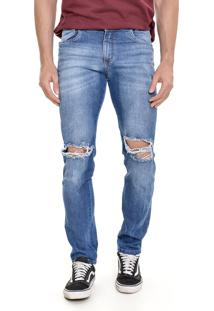 Calça Jeans Lemier Jeans Collection Slim Fit Azul