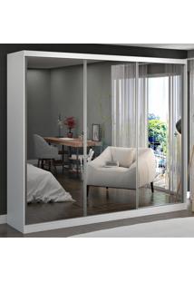 Guarda-Roupa Casal 3 Portas Com 3 Espelhos 100% Mdf 7320E3 Branco - Foscarini