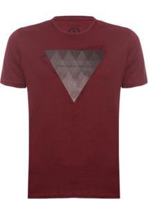 Camiseta Triangle Aleatory Masculina - Masculino-Bordô