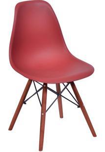 Cadeira Eames Dkr- Telha & Madeira Escura- 80,5X46,5Or Design
