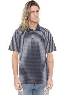 Camisa Polo Quiksilver Reta Zermet Azul-Marinho