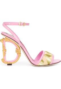 Dolce & Gabbana Sandália D&G Com Salto 120Mm - Rosa