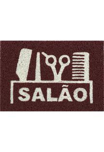 Tapete Capacho Decorativo 60X1,2M Salao - Marrom - Feminino - Dafiti