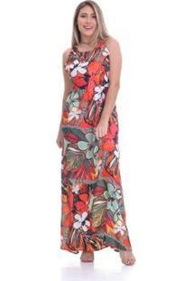 3976da167 R$ 319,20. Zattini Vestido Vermelho Viscose Decote V Longo Estampado  Textura Clara - Arruda Feminino-Vermelho Costas Feminino