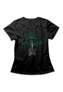 Camiseta Feminina O Chamado De Cthulhu Preto