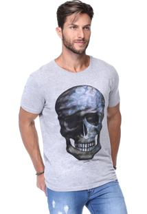 Camiseta King&Joe Cinza Estampada