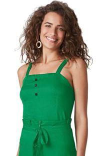 Blusa Verde Maquinetada