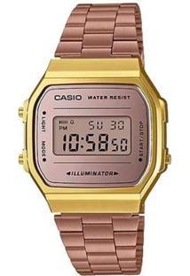 Relógio Casio Unisex Vintage - Feminino-Rosa