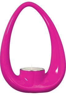 Porta Vela Com Tubo Pink Com Vela