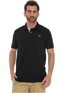 Camisa Polo New York Polo Club Slim - Masculino-Preto
