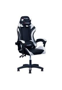 Cadeira Gamer X Fusion C.123 Preta/Branca