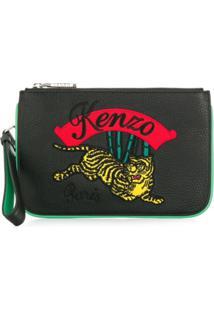 Kenzo Carteira 'Tiger' De Couro - Preto