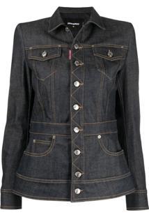 Dsquared2 Jaqueta Jeans Slim - Azul