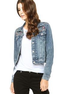 Jaqueta Jeans Mooncity Style Azul