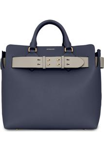 Burberry Pochete The Medium De Couro - Azul